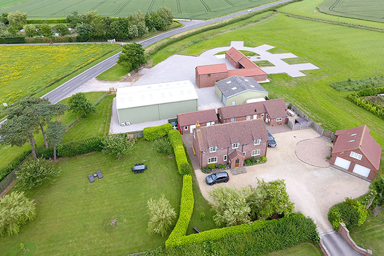 This is a birds eye view of the Furze Farm Estate